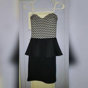 Chevron and Black Pencil type dress